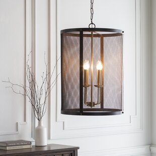 Brody Transitional 4-Light Drum Chandelier by Gracie Oaks