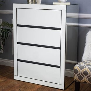 Home Loft Concepts 4 Drawer Mirrored Chest