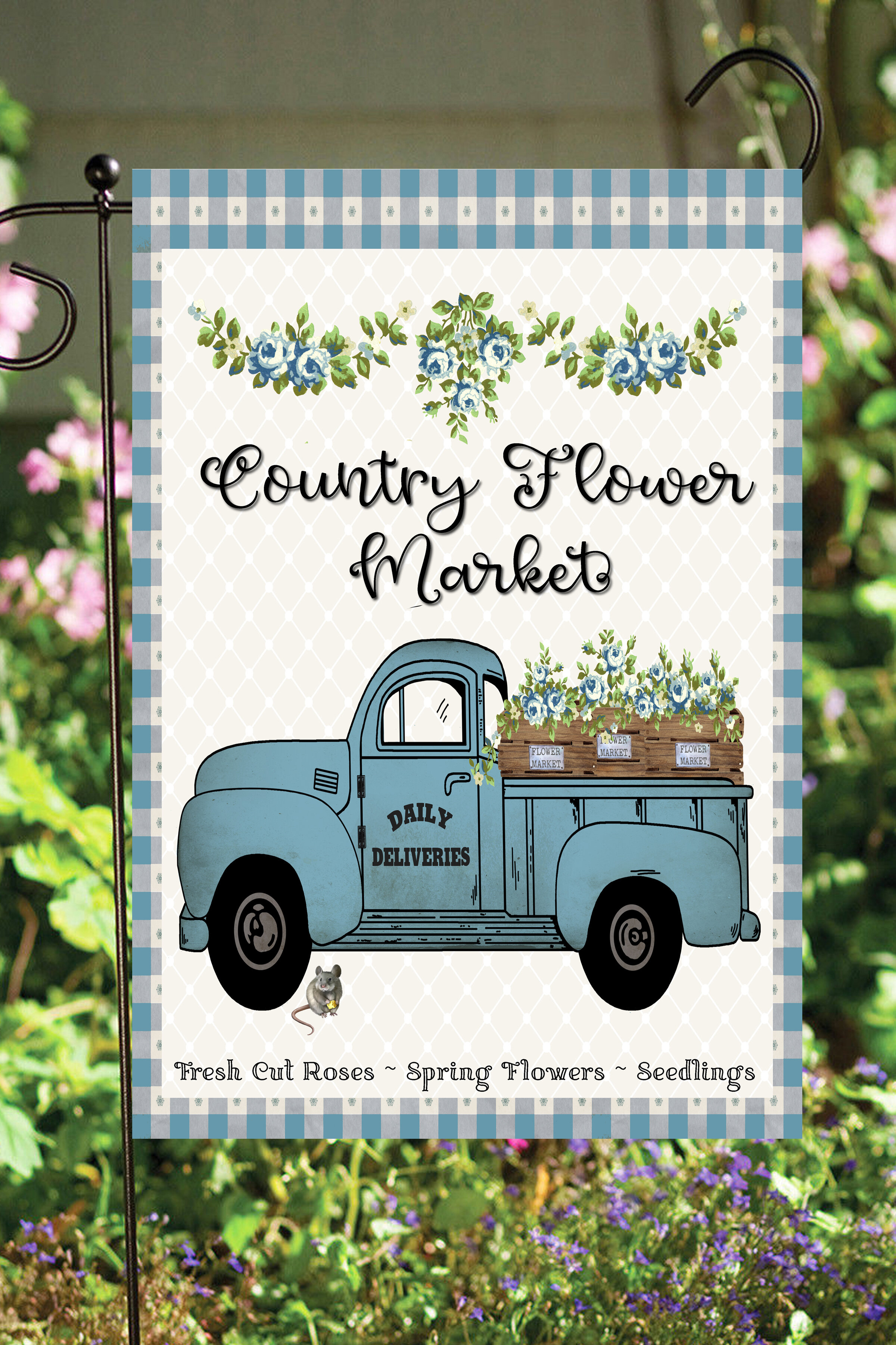 Flags Galore Decor And More Country Flowers Truck 2 Sided Polyester 18 X 12 In Garden Flag Wayfair