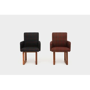 Wood Houndstooth Armchair