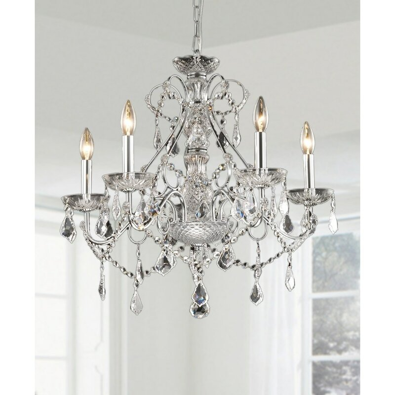 JoJospring New Orleans 5-Light Crystal Chandelier & Reviews | Wayfair