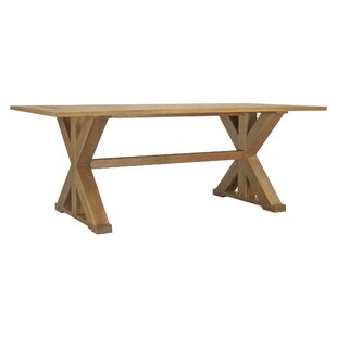 Dunaway Solid Wood Dining Table by Highland Dunes