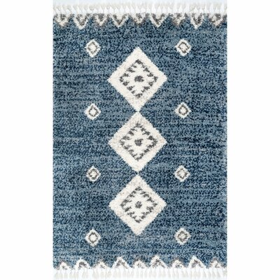 Blue Thick Pile Area Rugs You Ll Love In 2019 Wayfair