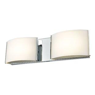 Orren Ellis Lottie 2-Light LED Bath Bar
