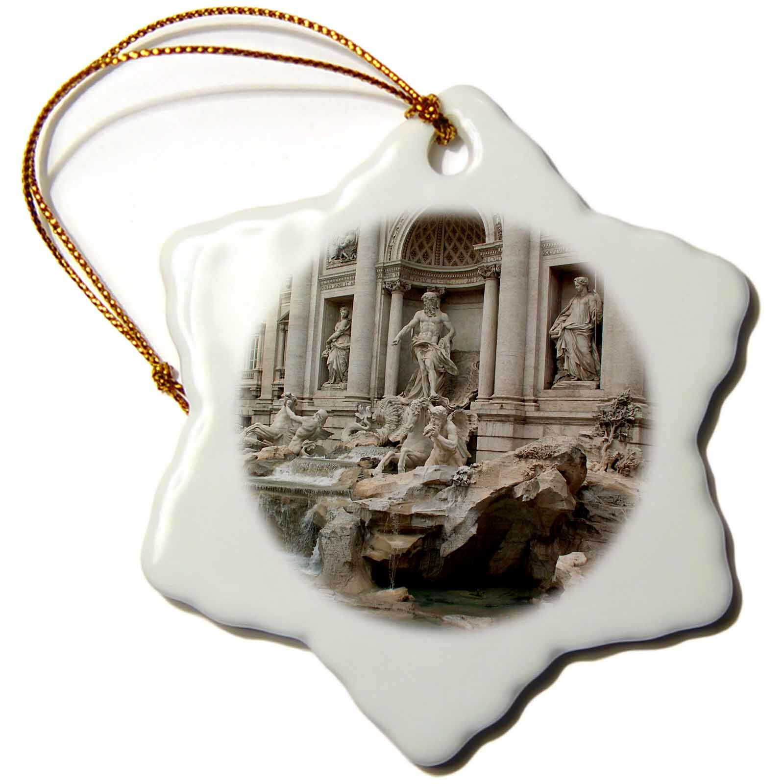The Holiday Aisle Trevi Fountain In Rome Italy Holiday Shaped Ornament Wayfair