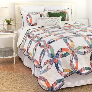 Heritage Wedding Ring Reversible Quilt Set by C&F Home Find