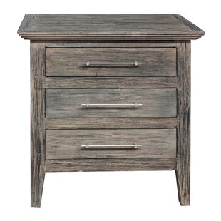 Gracie Oaks Aneres 3 Drawer Nightstand