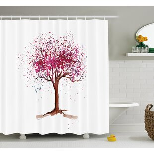 Sakura Tree Single Shower Curtain by East Urban Home Best