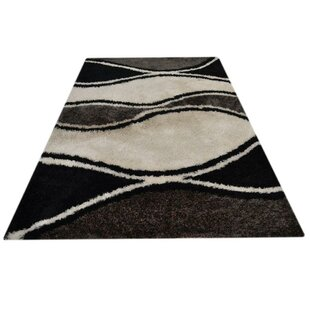 Comparison Vest Hand-Tufted Gray/White Area Rug By Latitude Run