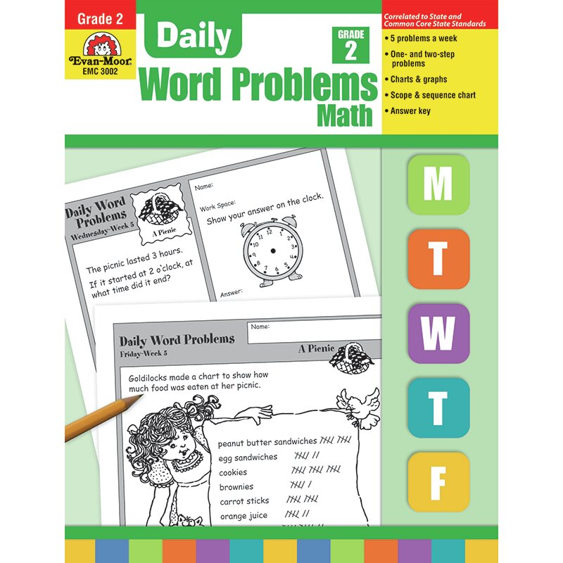 Daily Word Problems Grade 2 Book