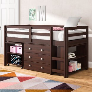 Senger Twin Low Loft Bed with Storage by