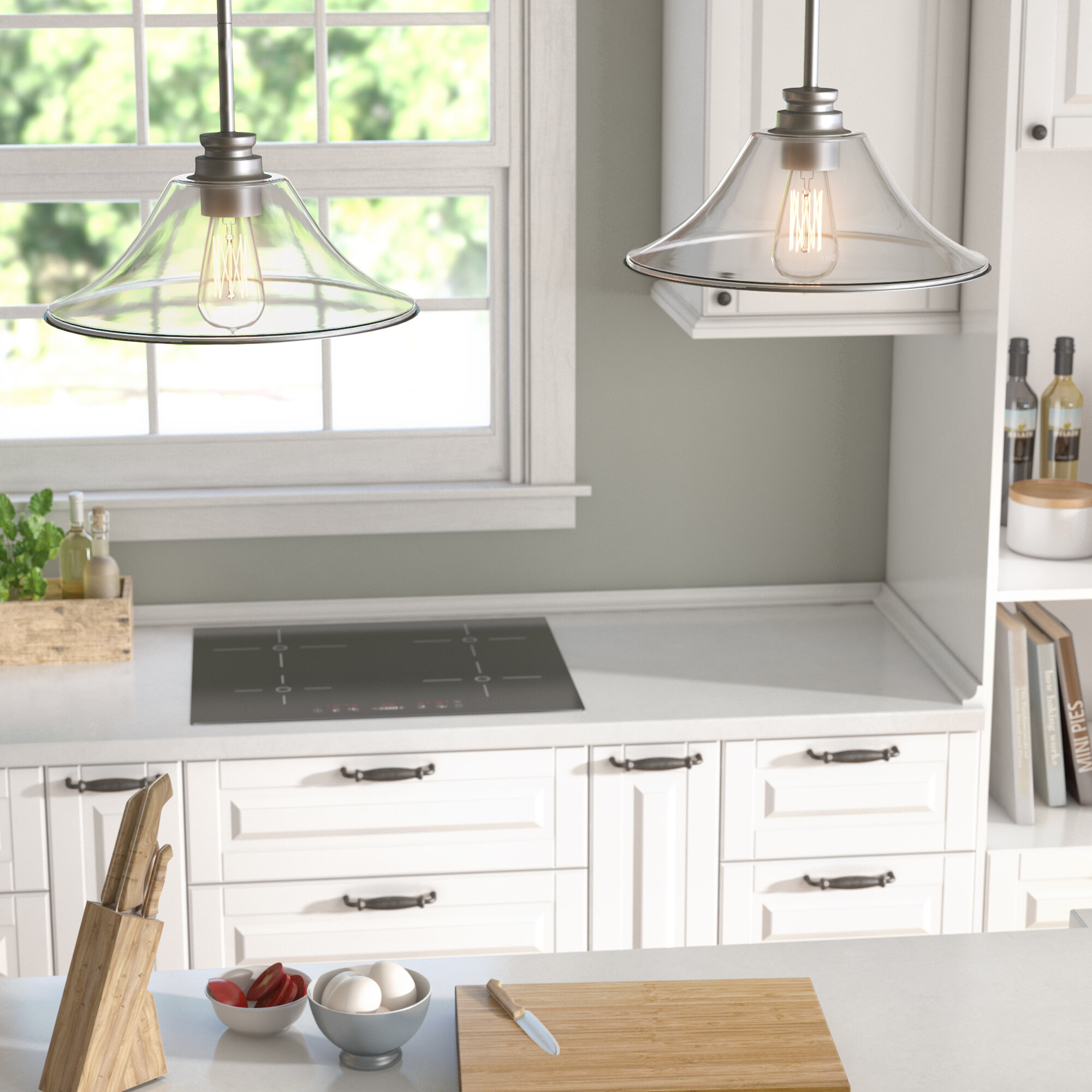 Clayton 2 Light Kitchen Island
