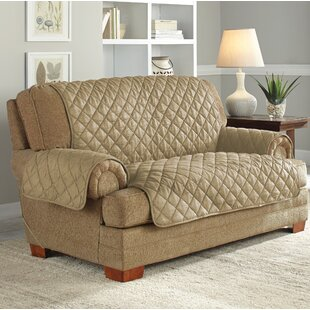 Serta Ultimate Waterproof Box Cushion Loveseat Slipcover