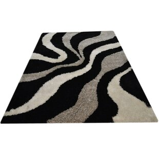 Compare & Buy Sunni Shag Hand-Tufted Black/Gray/Beige Area Rug By World Menagerie