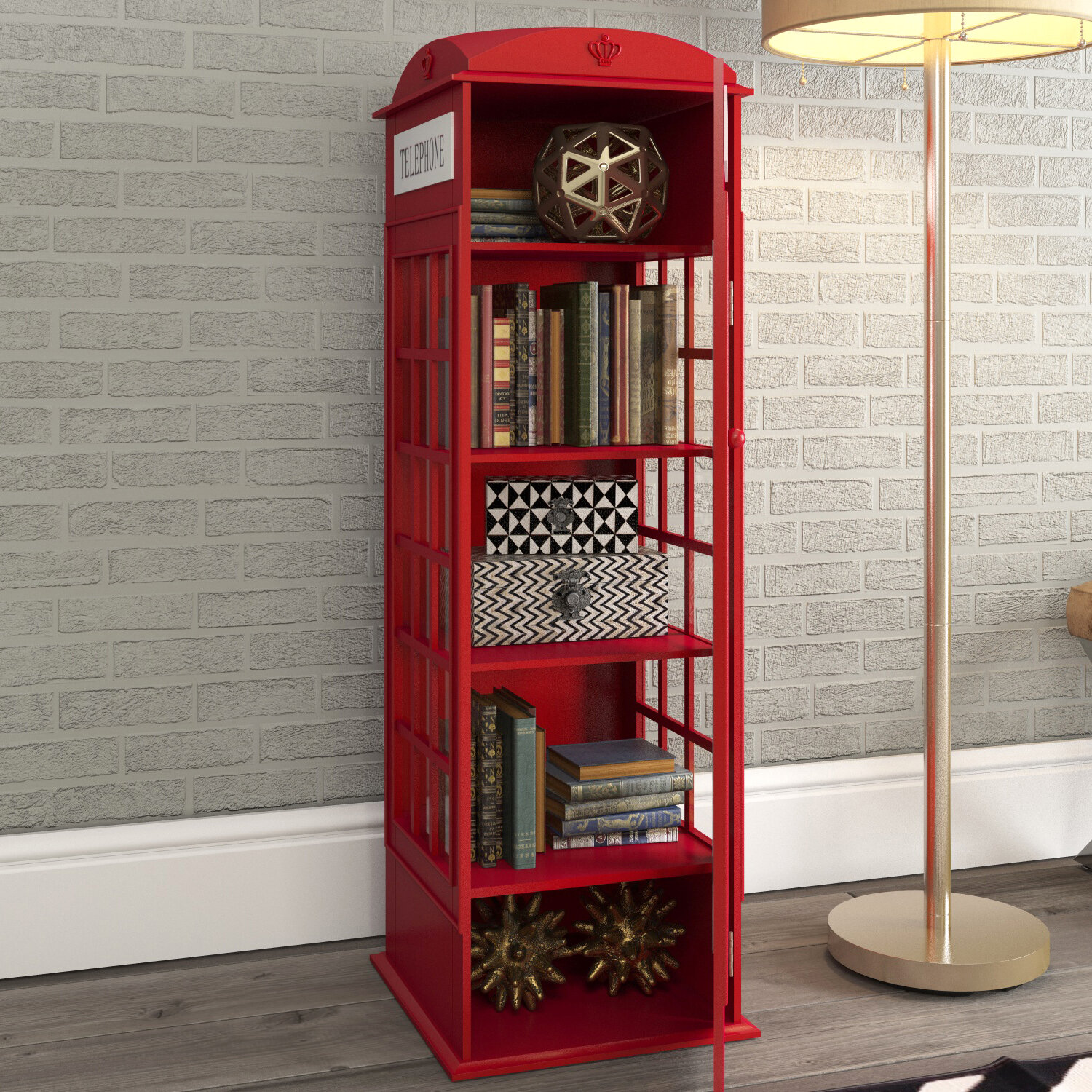 Red Barrel Studio Rodriques Phone Booth Storage Accent Cabinet Reviews Wayfair
