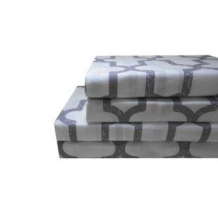 Basche 200 Thread Count 100% Cotton 4 Piece Sheet Set