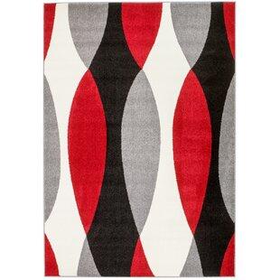 Great choice Grimes Gray/Black/Red Area Rug ByOrren Ellis