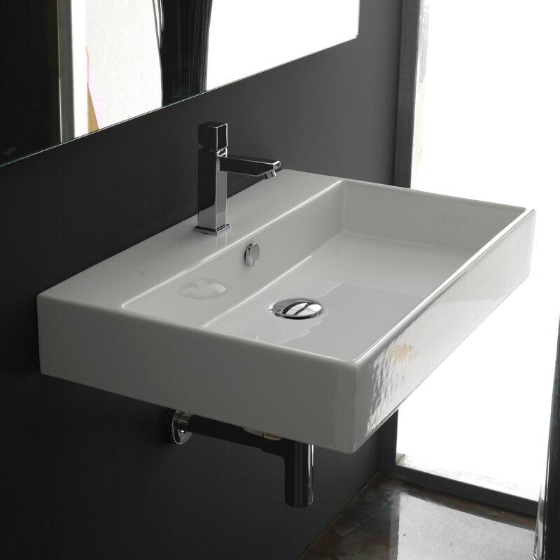 Bathroom Sinks Rectangular ws bath collections ceramica ii unlimited ceramic rectangular
