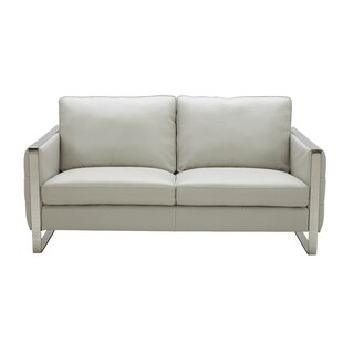 Orren Ellis Hewins Leather Loveseat