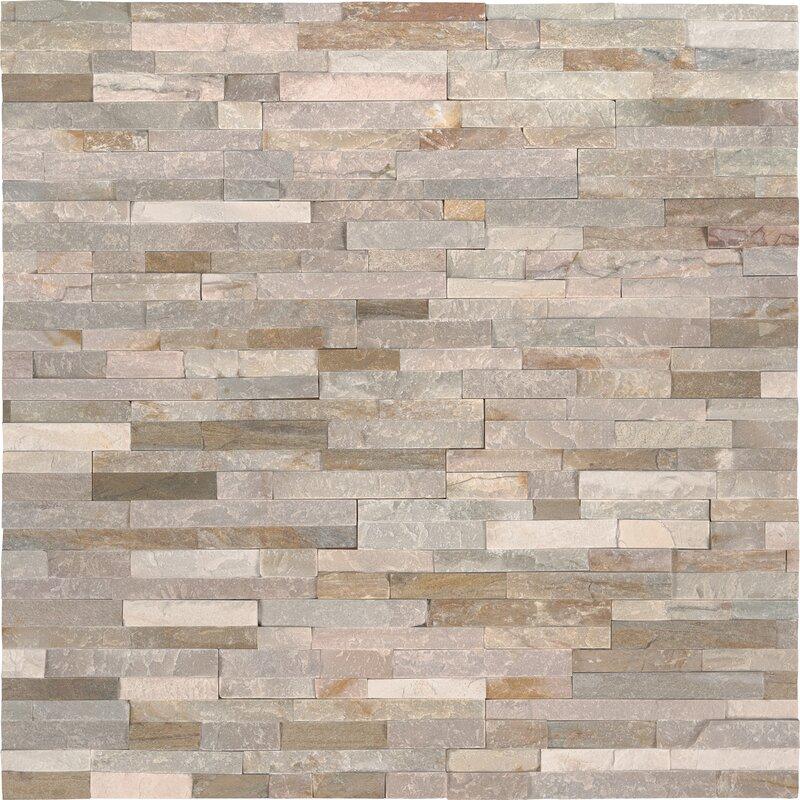 Golden Honey Natural Stone Mosaic Tile In White