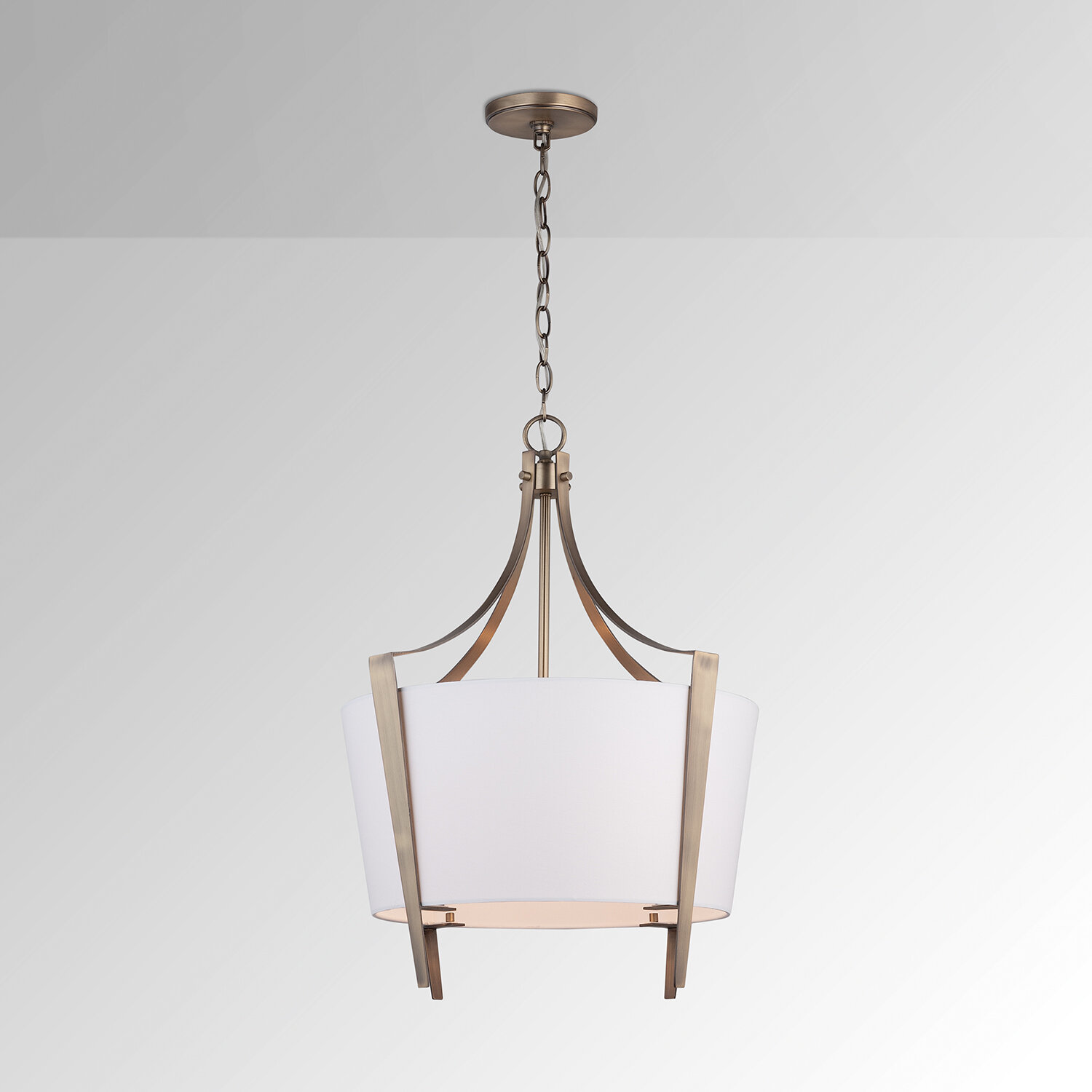 Brass Fabric Pendant Lighting You Ll Love In 2021 Wayfair