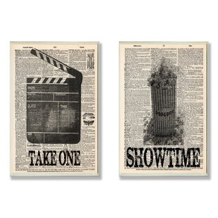 'Take One and Showtime Movie' 2 Piece Textual Art Wall Plaque Set by Winston Porter