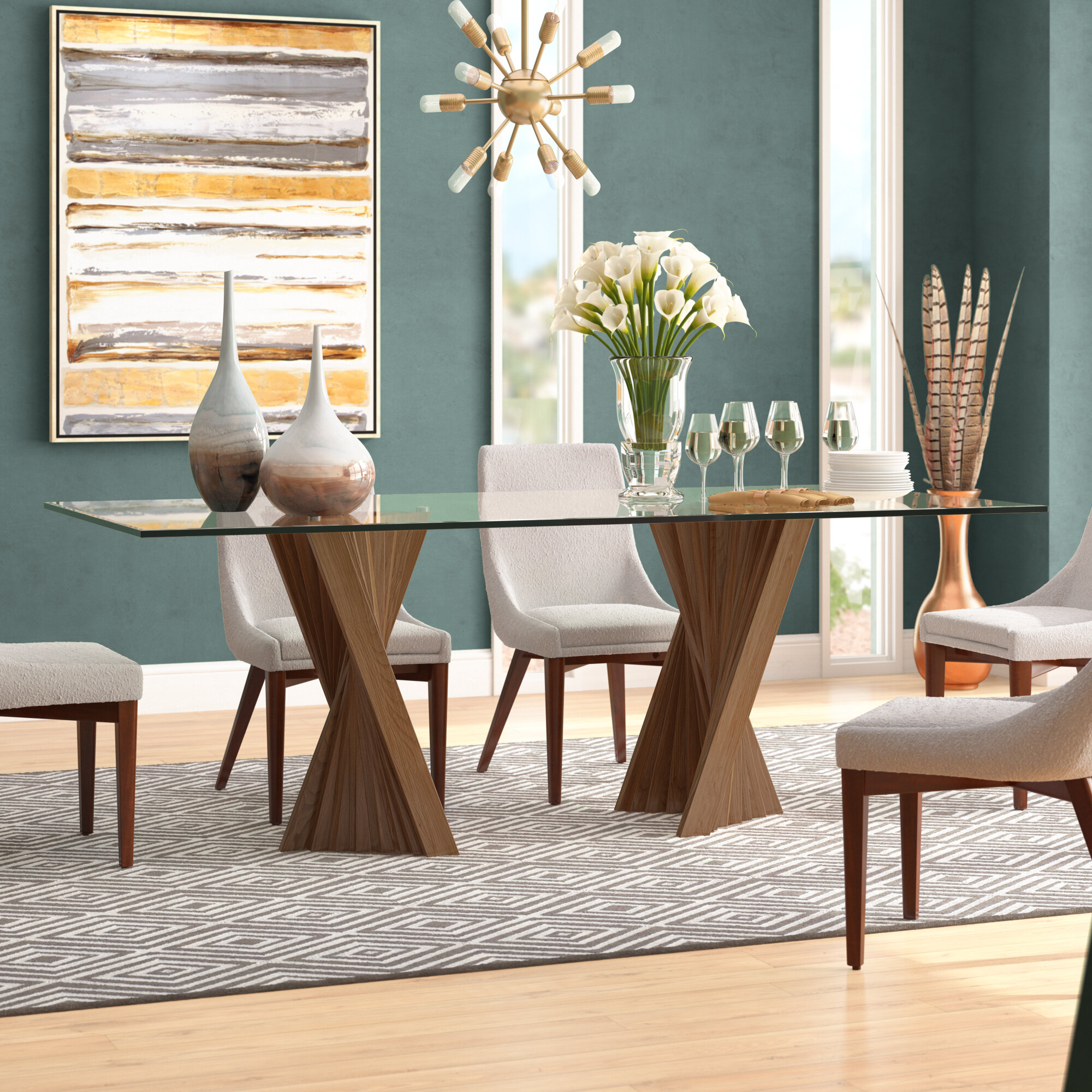 Brayden Studio Didymos Rectangular Dining Table Reviews Wayfair
