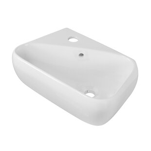 Compare Ceramic Rectangular Vessel Bathroom Sink with Overflow By Royal Purple Bath Kitchen