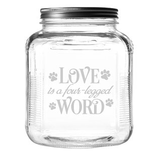 Four-Legged Word 4 qt. Pet Treat Jar