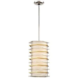 Everly Quinn Alethea 1-Light LED Cylinder Pendant