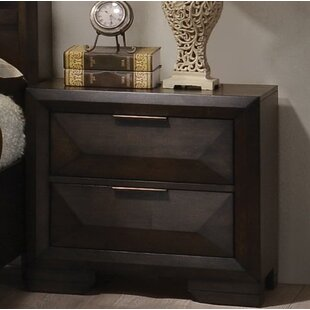 Ebern Designs Haworth 2 Drawer Nightstand