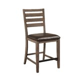 Garin Ladder Back Side Chair in Brown (Set of 2) by Gracie Oaks