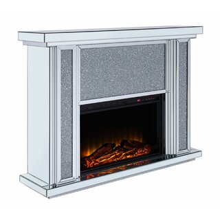 Ahearn Wood and Mirror Electric Fireplace by Everly Quinn