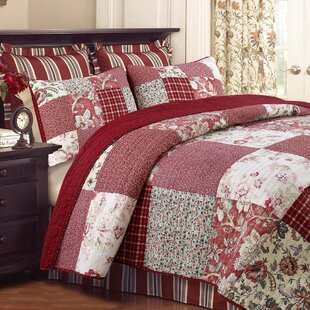 Stockwood Cotton 3-piece Reversible Quilt Set