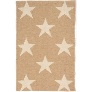 Star Hand Woven Beige White Indoor Outdoor Area Rug