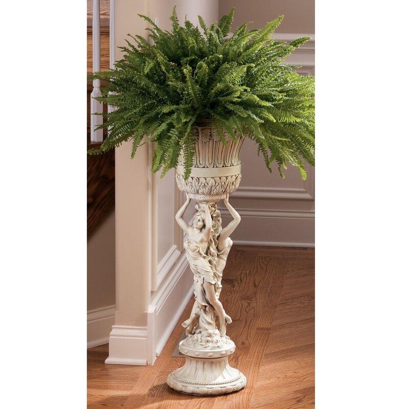 Neoclassical Les Filles Joyeuses Pedestal Plant Stand