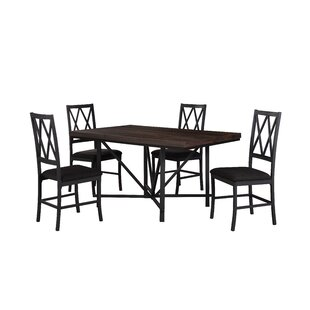 Cape 5 Piece Dining Set Gracie Oaks