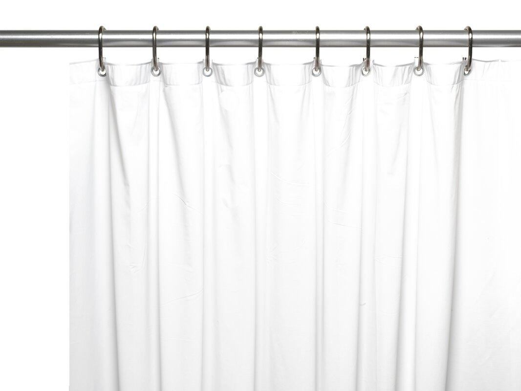 Ben and Jonah Vinyl 10 Gauge Shower Curtain Liner with Metal ...