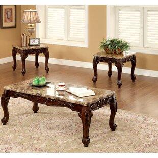 Astoria Grand Albertus 3 Piece Coffee Table Set