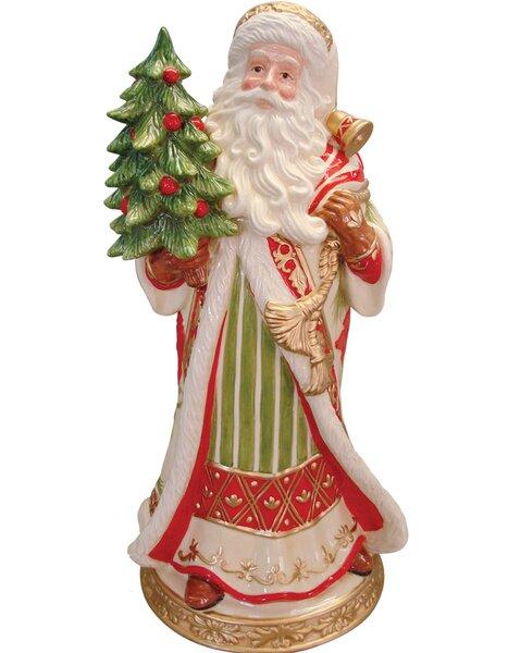 Kaldun Bogle Poinsettia Santa Vase Wayfair