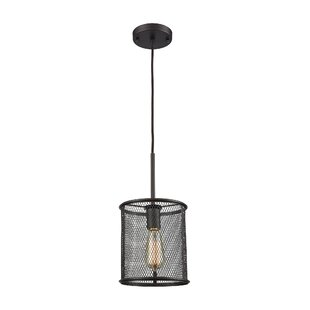 Clementine 1-Light Cylinder Pendant by Breakwater Bay