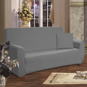 ELEGANT COMFORT Box Cushion Sofa Slipcover Image