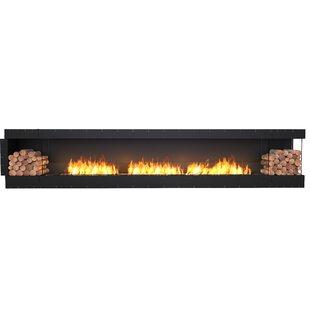 FLEX158 Right Corner Wall Mounted Bio-Ethanol Fireplace Insert