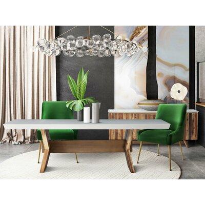 Brayden Studio Dusek Concrete 5 Piece Dining Set Table Color: White
