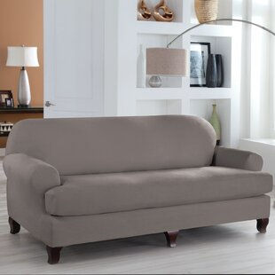 Great Price Tailor Fit T-Cushion Sofa Slipcover by Serta Reviews (2019) & Buyer's Guide