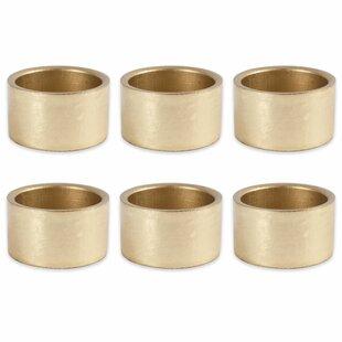 Round Painted Acrylic Napkin Ring (Set of 6)