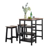 Michiana 3 Piece Solid Wood Dining Set by Ebern Designs