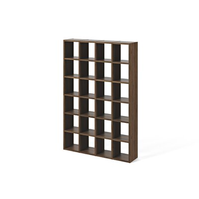 Brayden Studio Ottley Composition Cube Unit Bookcase Finish: Walnut