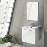 Start 20 Single Bathroom Vanity Set with Mirror by WS Bath Collections