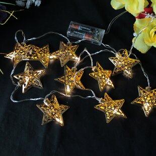 10 Light LED Star Novelty String Light By The Seasonal Aisle